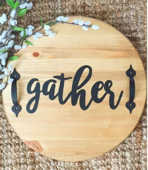 custom   wooden gather serving tray  handles