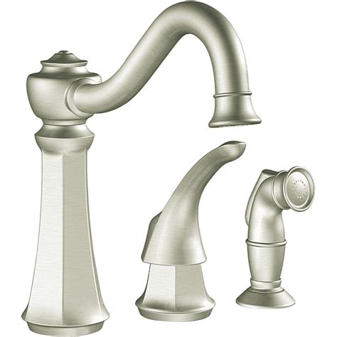 Vestige Kitchen Faucet moen 7065csl vestige one handle high arc classic stainless