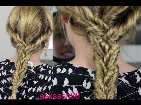 triple fishtail braid easy everyday hairstyles  long