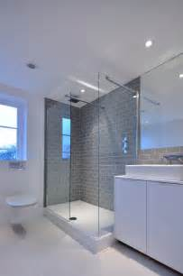 gray subway tile backsplash bathroom contemporary with