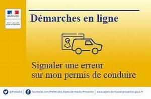 Permis Conduire En Ligne : d marches en ligne signaler une erreur sur mon permis de conduire actualit s accueil les ~ Medecine-chirurgie-esthetiques.com Avis de Voitures