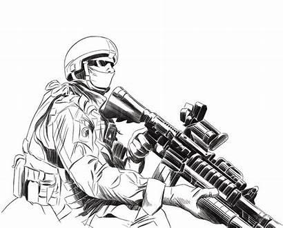 Dibujos Coloring Army Soldier Drawing Militares Colorear