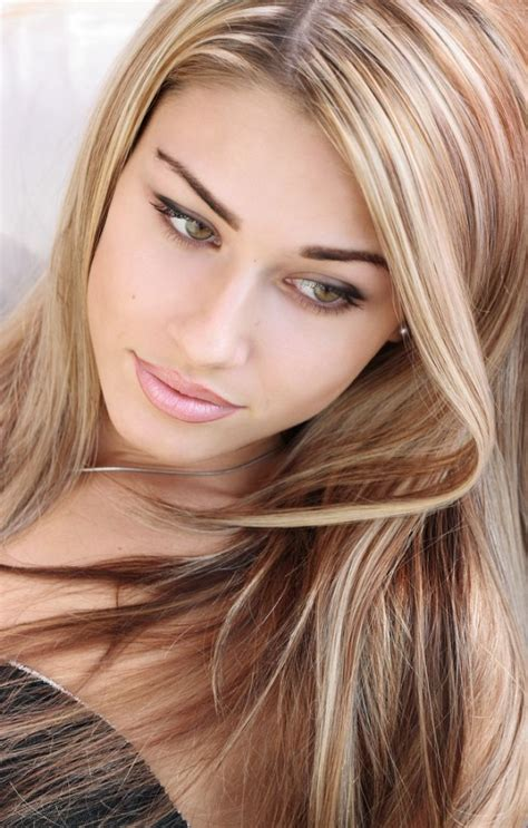 Light Brown Hair Color With Blonde Highlights Breonna