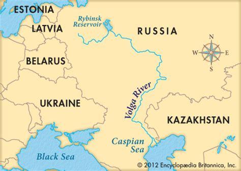 Volga River Europe Map