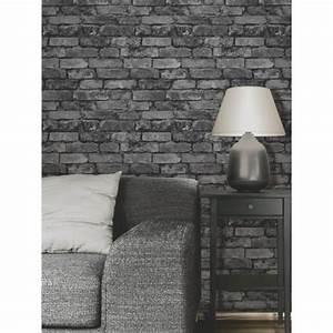 Papier Peint Brique Gris : papier peint brique gris noir achat vente papier ~ Dailycaller-alerts.com Idées de Décoration
