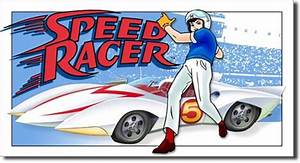 Speed Racer with Mach 5 Tin Sign » Bars & Booths