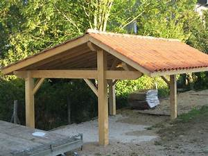 carport el matos constructions et passions With plan maison en pente 15 abris 2 pans asymetrique charpente bois wood structure
