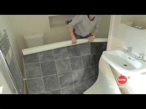 vinyl flooring around bathtub diy how to lay vinyl or lino flooring youtube
