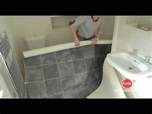 diy how to lay vinyl or lino flooring youtube With how to lay lino in bathroom