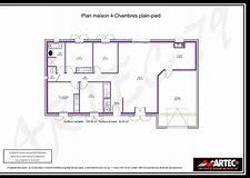 hd wallpapers plan maison 100m2 plein pied 4 chambres - Plan De Maison De 100m2 Plein Pied