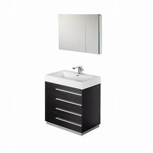 30 inch black modern bathroom vanity with medicine cabinet With bathroom vanity and medicine cabinet set