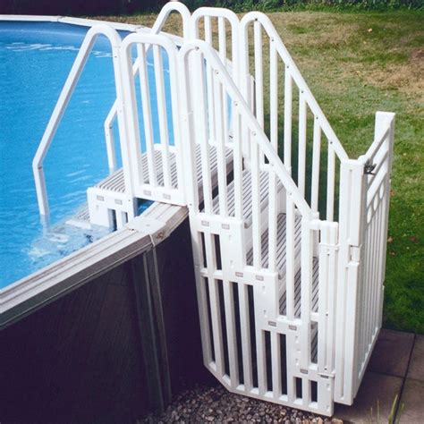 above ground pool steps for decks australia above ground swimming pool accessories and equipment diy