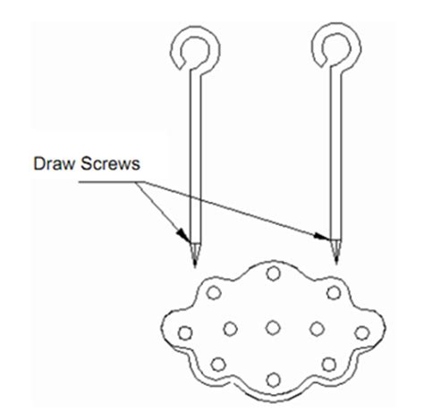 draw spike draw screws  rapping plate hand tools