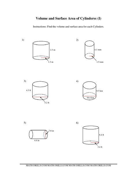 Surface Area Cylinder Worksheet Resultinfos
