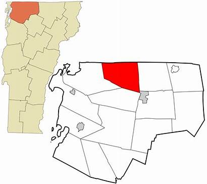 Franklin Vermont County Svg Highlighted Incorporated Unincorporated