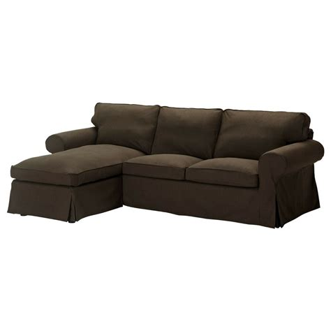 Loveseat Slipcover by Ikea Ektorp Cover For Loveseat With Chaise Svanby Brown