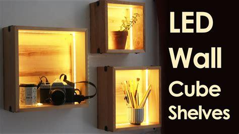 floating wall shelves led wall cube shelves