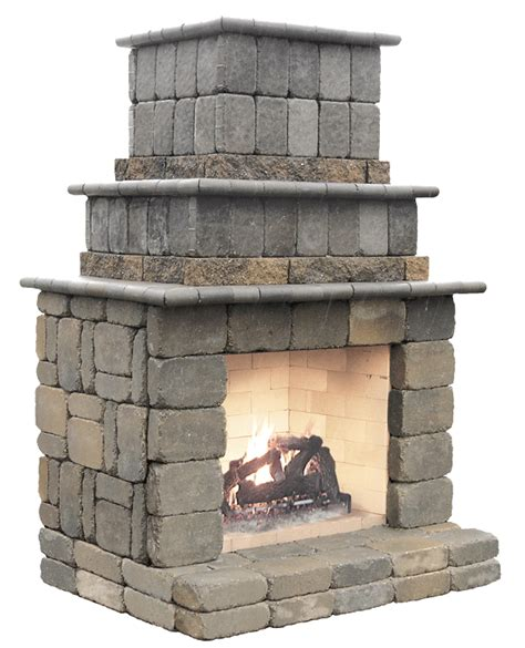 how to build a stacked fireplace outdoor features patio town
