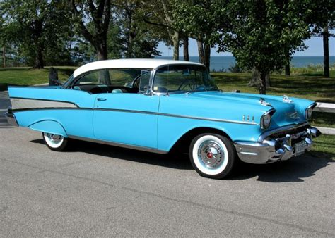 chevy bel air  tropical turquoise cars