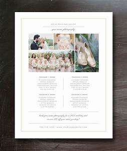 Photography price list template pricing guide branding for Templates for wedding photographers