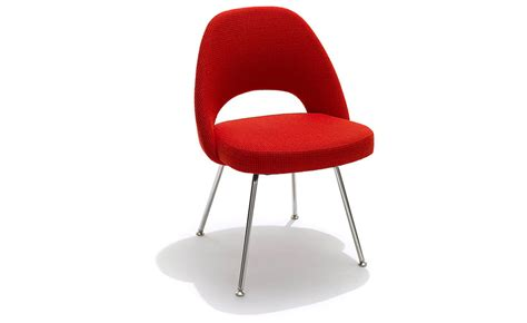 saarinen executive side chair with metal legs hivemodern