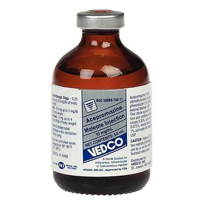acepromazine maleate injection mgml ml vedco vedc