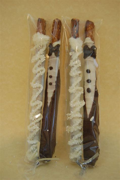 Chocolate Covered Pretzels Baby Shower Favors