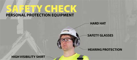 safety check ppe poster  operator general laborer
