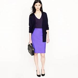 Bright purple pencil skirt MY STYLE