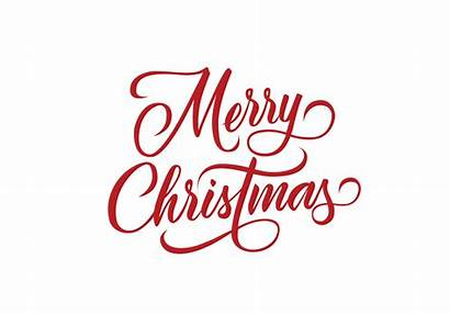 Merry Christmas Lettering Vector Clipart Graphics Decorative