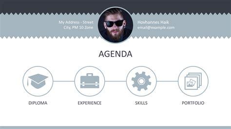 curicculum vitae professional curriculum vitae powerpoint template slidemodel