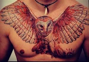 owl chest tattoo - Google Search | Tattoos | Pinterest ...