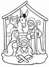 Jesus Coloring Born Printable Colouring Getcolorings sketch template