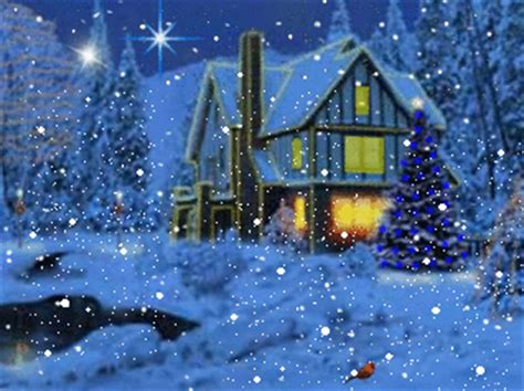 3d Snowy Cottage Animated Wallpaper Free - buon compleanno rasberry page 2
