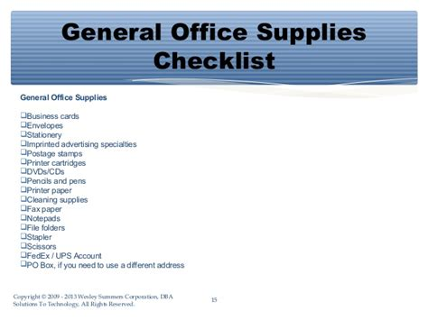 essential shopping list  starting  office   small