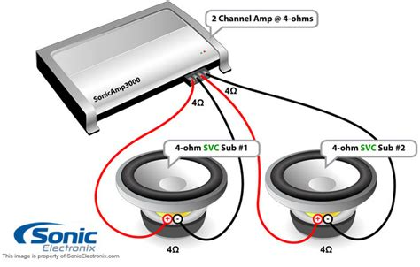 how can i wire my two infinity 4ohm svc 8 quot subs to a
