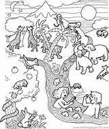 Flood Coloring Pages Printable Getcolorings Religions Coloringpages101 sketch template