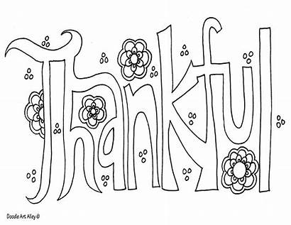 Doodle Coloring Word Thankful Alley Doodles Forgiveness