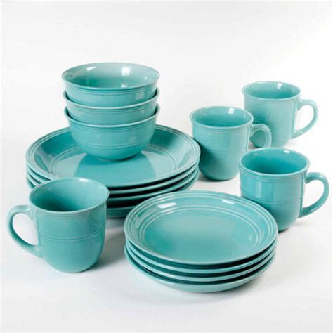 piece  dinnerware set kitchen stoneware plates