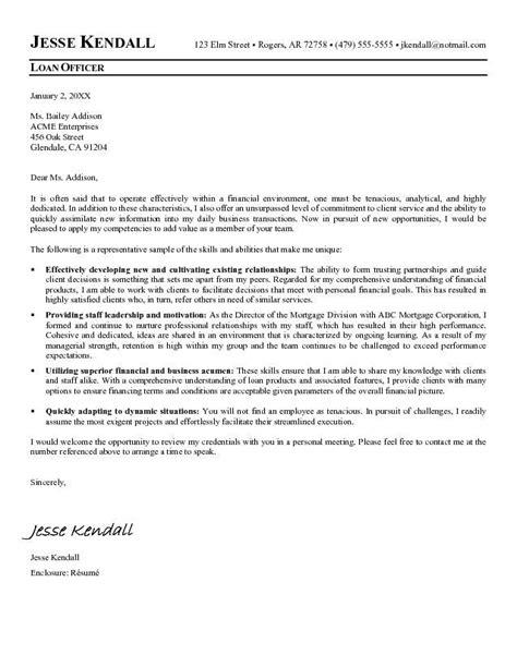 loan officer cover letter sample loan officer