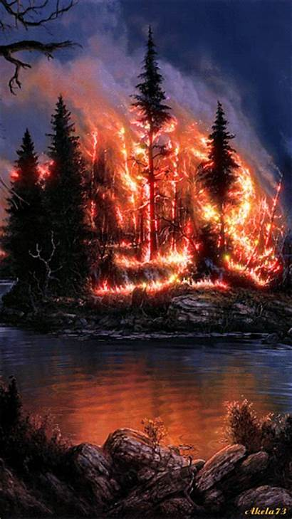 Forest Fire Gifs Animation Wallpapers Nature Awesome