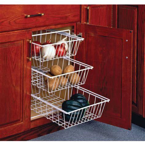 wire storage baskets for kitchen cabinets 3 tier pull out vegetable baskets for kitchen base cabinet