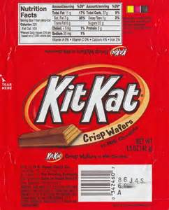 Kit Kat Candy Bar Wrapper Template
