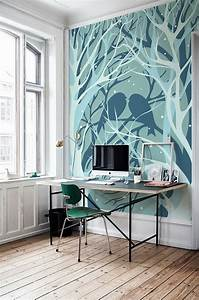 Workspaces Design with Wall Murals painting Viahouse Com