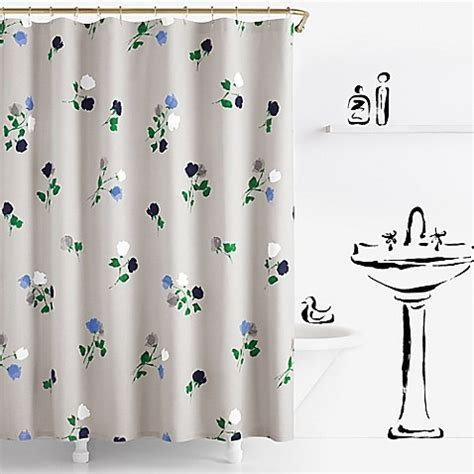 kate spade shower curtain kate spade new york willow court shower curtain bed bath