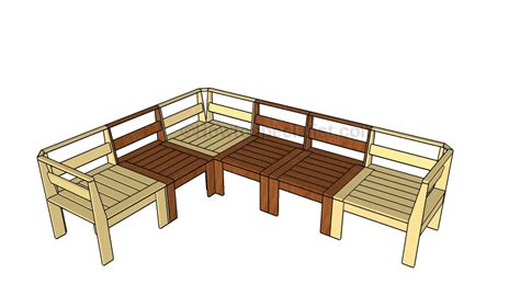 diy sectional sofa plans corner outdoor sectional plans howtospecialist how to