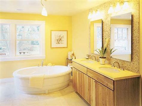 Yellow Tile Bathroom Paint Colors by 33 Vintage Yellow Bathroom Tile Ideas And Pictures 2019