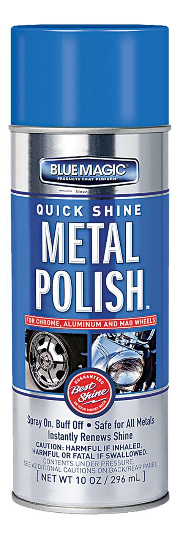 bluemagic oz quick shine metal polish aerosol