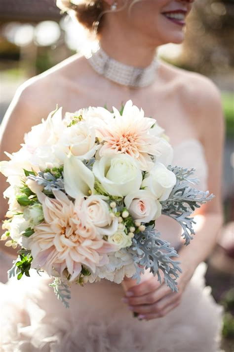 wedding wednesday  bridal bouquets featuring cafe au