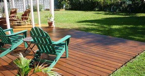 deluxe ground level deck designs backyard ideas